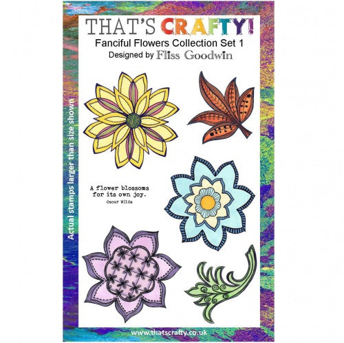 That's Crafty! - Fliss Goodwin - Clear Stamp Set - Fanciful Flowers Collection Set 1
