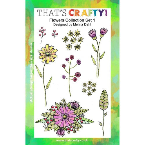 That's Crafty! - Melina Dahl - Clear Stamp Set - Flowers Collection Set 1