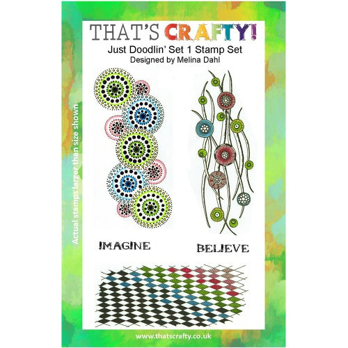 That's Crafty! - Melina Dahl - Clear Stamp Set - Just Doodlin' Set 1