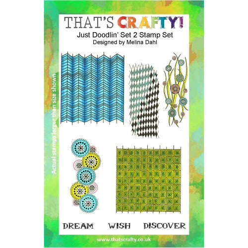 That's Crafty! - Melina Dahl - Clear Stamp Set - Just Doodlin' Set 2