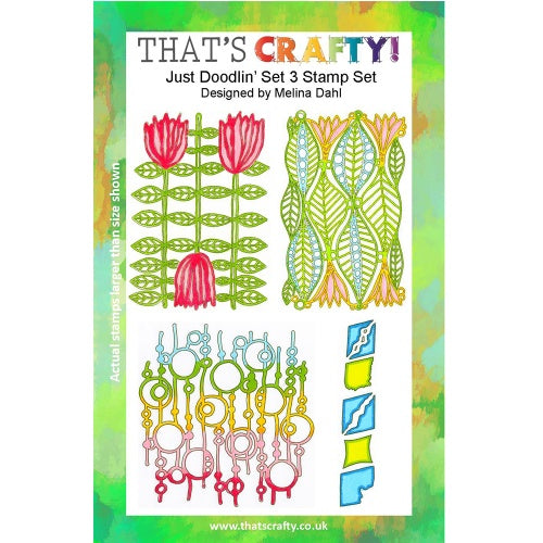 That's Crafty! - Melina Dahl - Clear Stamp Set - Just Doodlin' Set 3