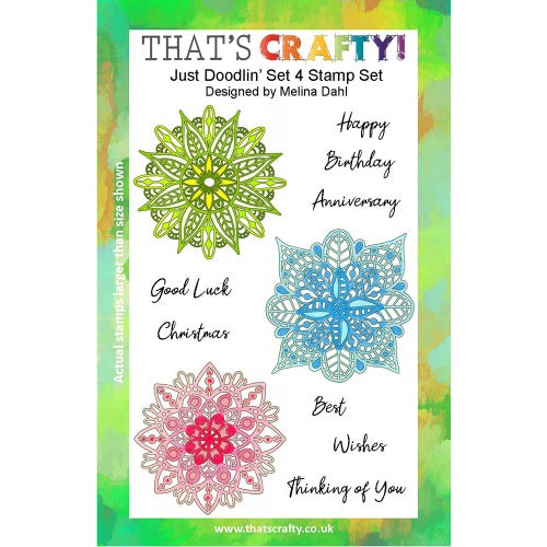 That's Crafty! - Melina Dahl - Clear Stamp Set - Just Doodlin' Set 4