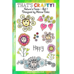 That's Crafty! - Melina Dahl - Clear Stamp Set - Nature's Faces Set 1