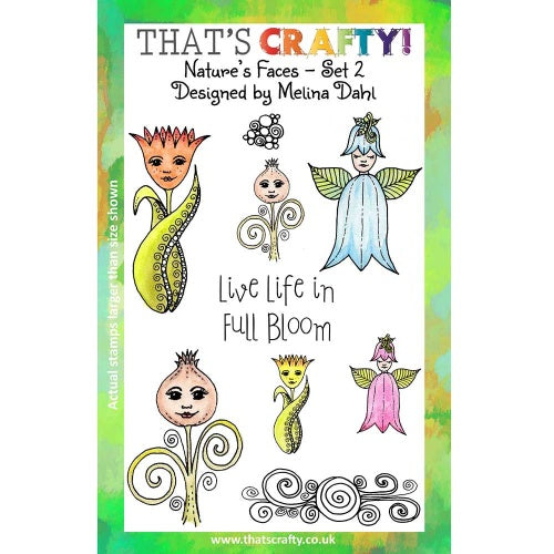 That's Crafty! - Melina Dahl - Clear Stamp Set - Nature's Faces Set 2