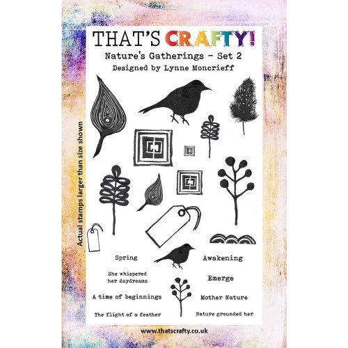 That's Crafty! - Lynne Moncrieff - Clear Stamp Set - Nature's Gatherings Set 2