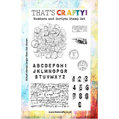 That's Crafty! - Clear Stamp Set - Numbers and Scripts