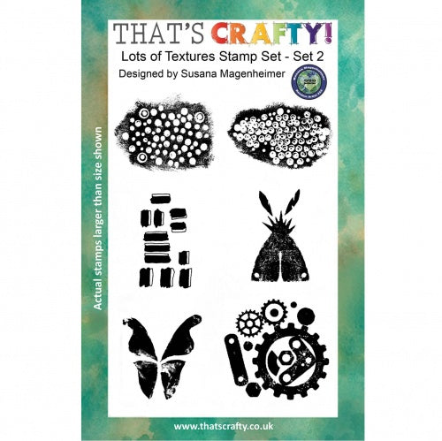 That's Crafty! - Clear Stamp Set - Lots of Texture Set 2 - Random Artist 222