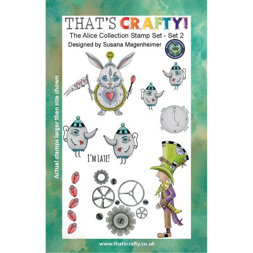 That's Crafty! - Clear Stamp Set - Alice Collection 2 - Random Artist 222
