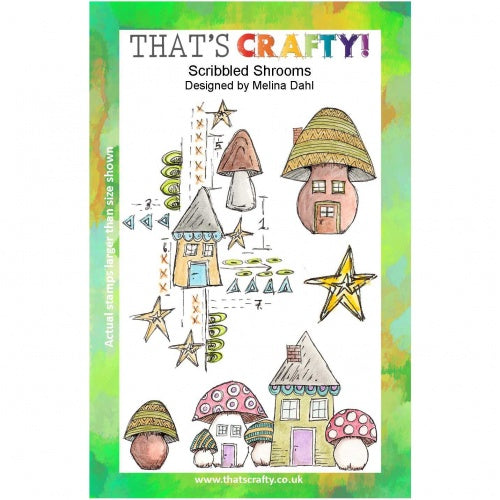 That's Crafty! - Melina Dahl - Clear Stamp Set - Scribbled Shrooms
