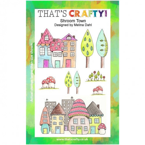 That's Crafty! - Melina Dahl - Clear Stamp Set - Shroom Town