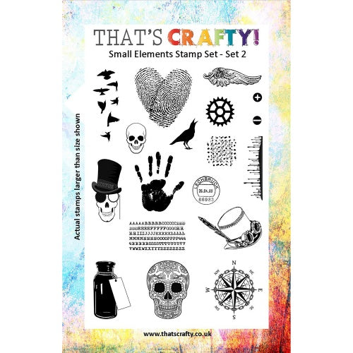 That's Crafty! - Clear Stamp Set - Small Elements Set 2