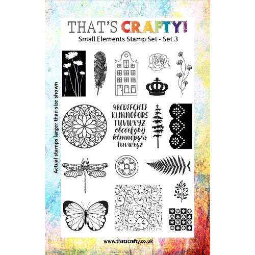 That's Crafty! - Clear Stamp Set - Small Elements Set 3