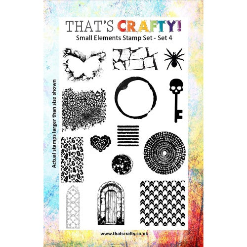 That's Crafty! - Clear Stamp Set - Small Elements Set 4