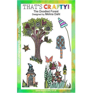 That's Crafty! - Melina Dahl - Clear Stamp Set - The Doodled Forest