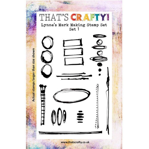 That's Crafty! - Lynne Moncrieff - Clear Stamp Set - Lynn's Mark Making Stamps Set 1