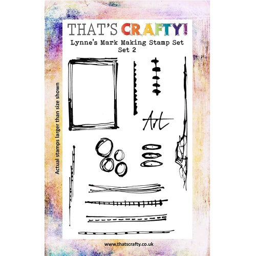That's Crafty! - Lynne Moncrieff - Clear Stamp Set - Lynn's Mark Making Stamps Set 2