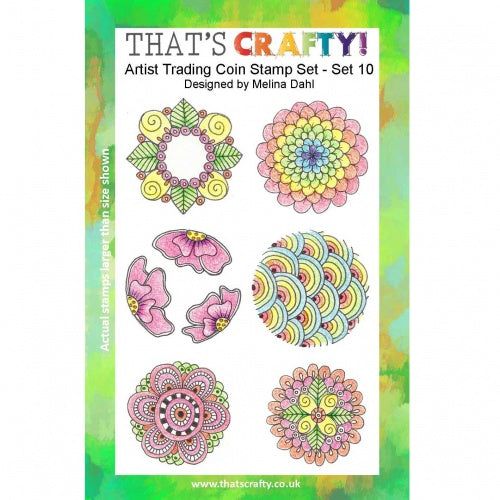 That's Crafty! - Clear Stamp Set - ATC Coins Set 10