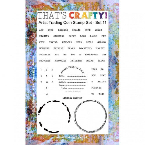 That's Crafty! - Clear Stamp Set - ATC Coins Set 11
