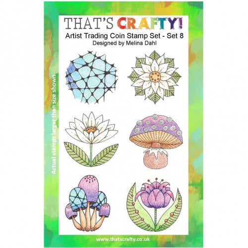 That's Crafty! - Clear Stamp Set - ATC Coins Set 8