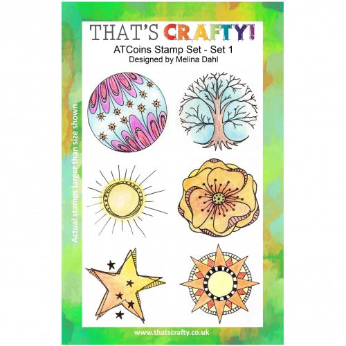 That's Crafty! - Clear Stamp Set - ATC Coins Set 1 - Melina Dahl