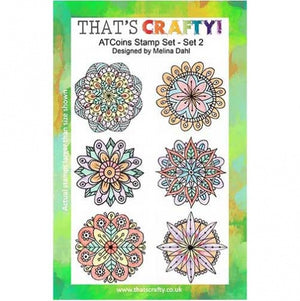 That's Crafty! - Melina Dahl - Clear Stamp Set - ATC Coins Set 2