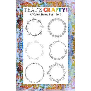 That's Crafty! - Clear Stamp Set - ATC Coins Set 3