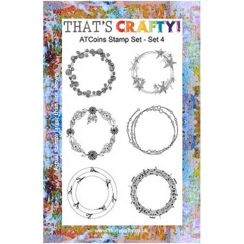 That's Crafty! - Clear Stamp Set - ATC Coins Set 4