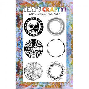 That's Crafty! - Clear Stamp Set - ATC Coins Set 5