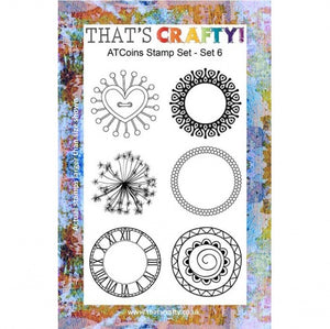 That's Crafty! - Clear Stamp Set - ATC Coins Set 6