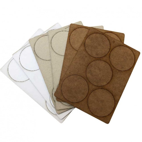 That's Crafty - ATC - Coins - Sample Pack of 30 - MDF, Greyboard, White Greyboard