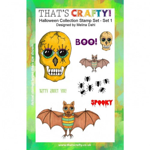 That's Crafty! - Melina Dahl - Clear Stamp Set - Halloween Collection 1