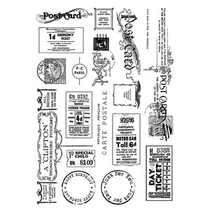 Crafty Individuals - Unmounted Rubber Stamp - Vintage Tickets & Ephemera