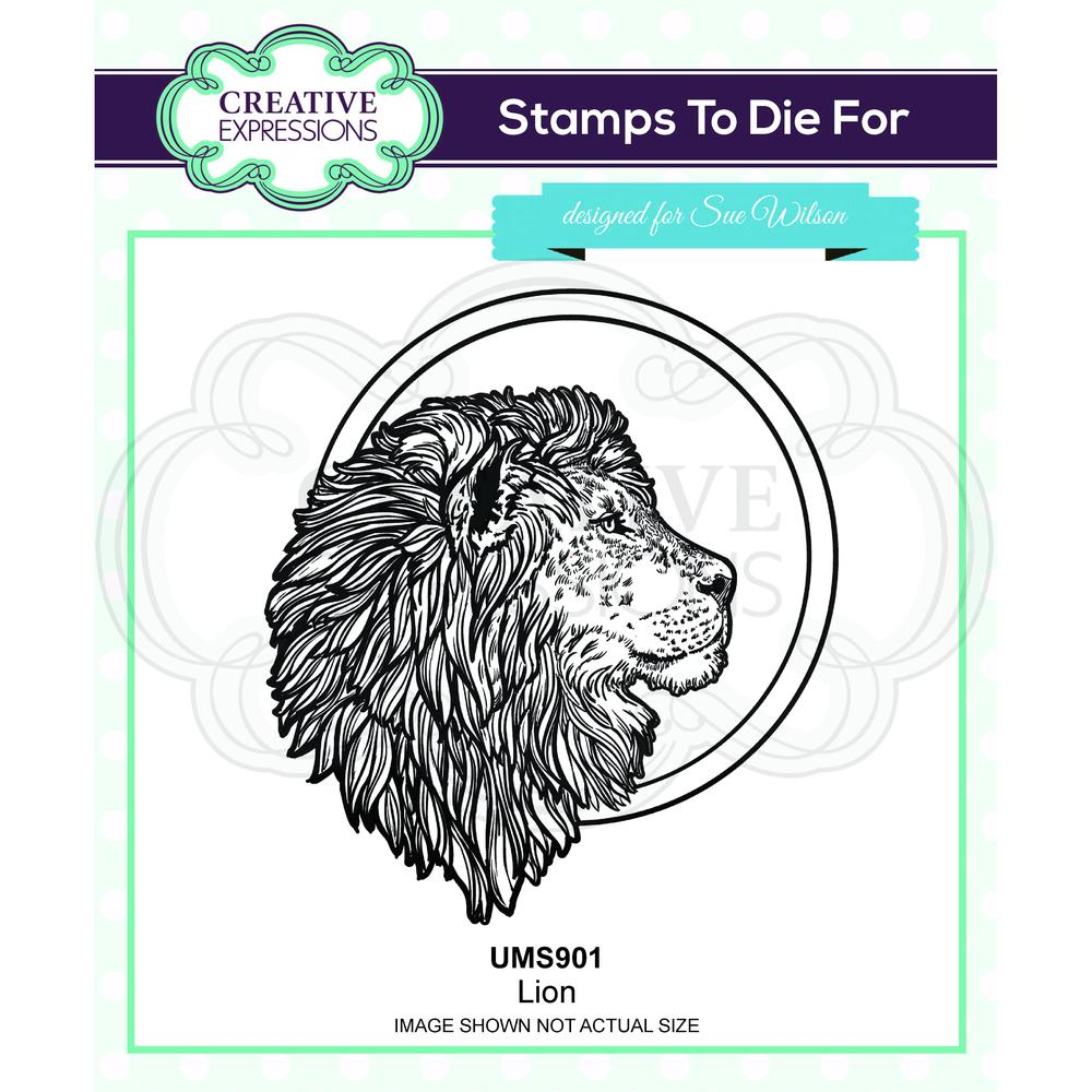 Creative Expressions - Rubber Cling Stamp - Sue Wilson Safari Collection - Lion
