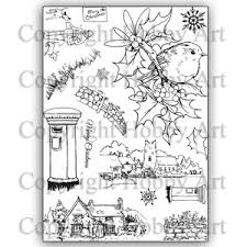 Hobby Art Stamps - Clear Polymer Stamp Set - A5 - Village Post