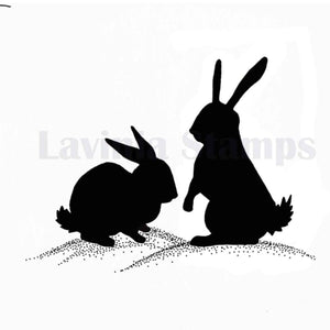 Lavinia - Midnight Meandering Bunnies - Rabbits - Clear Polymer Stamp