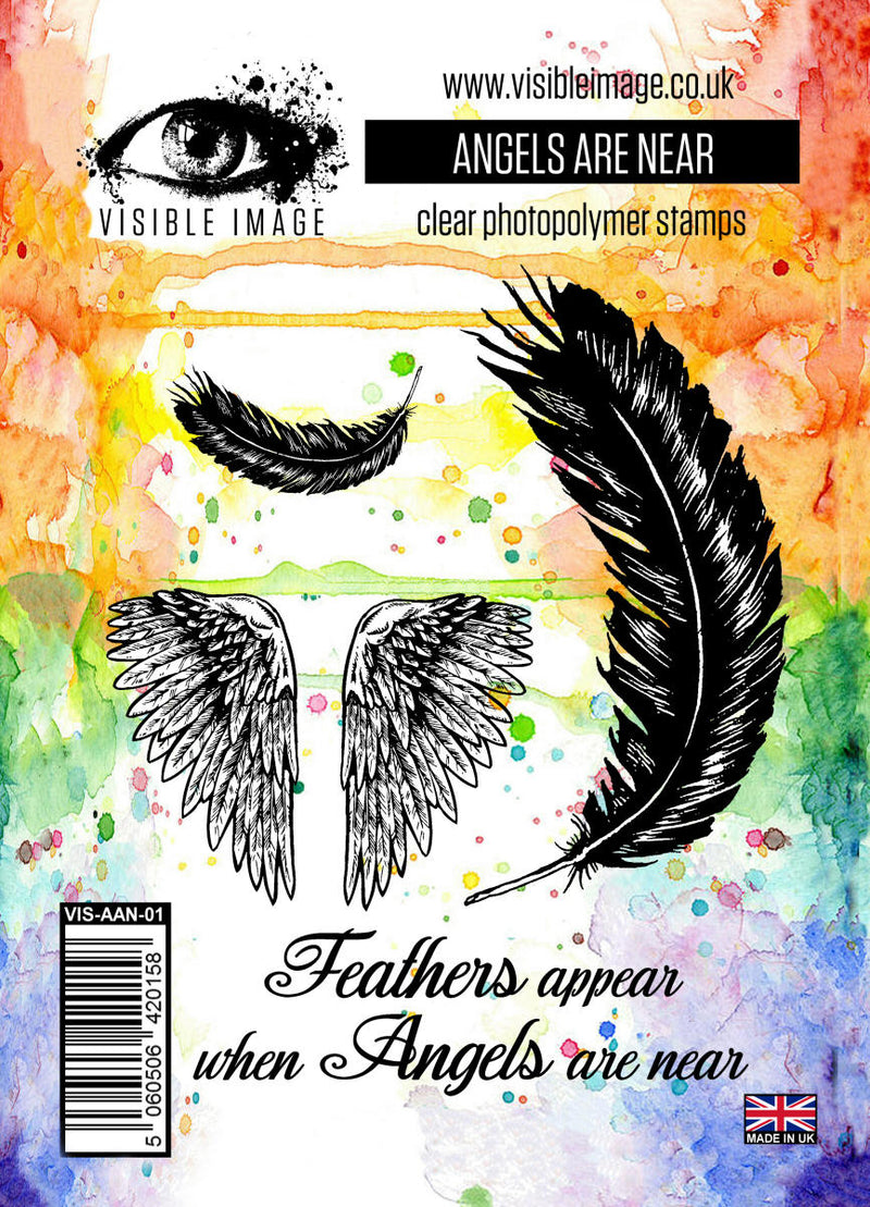 Visible Image - Angels Are Near - Clear Polymer Stamp Set