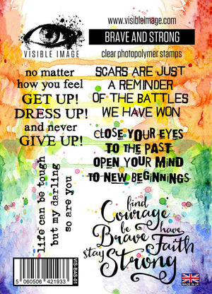 Visible Image - Brave and Strong - Clear Polymer Stamp Set
