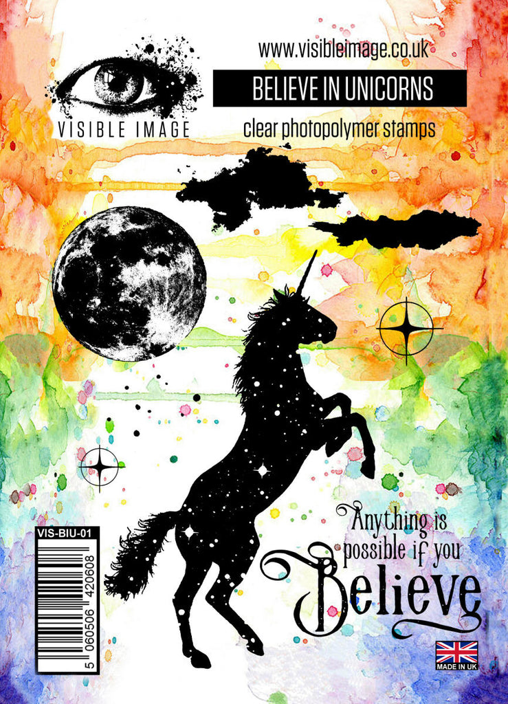 Visible Image - Believe in Unicorns - Clear Polymer Stamp Set