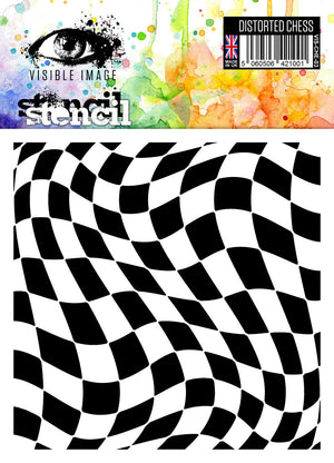 Visible Image - Distorted Chess - Stencil