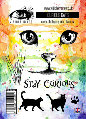 Visible Image - Curious Cats - Clear Polymer Stamp Set