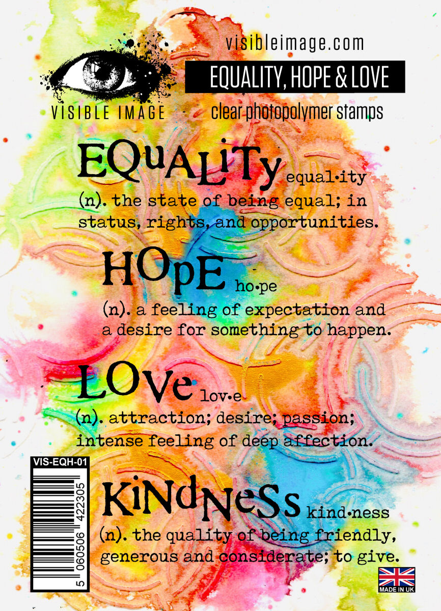 Visible Image - Equality, Hope, Love - Clear Polymer Stamp Set