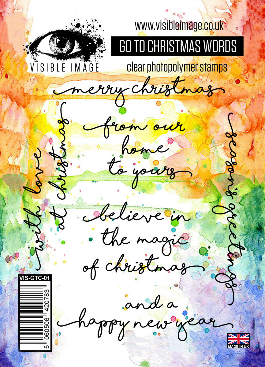 visible image go to christmas words clear polymer stamp set - Christmas Words That Start With S
