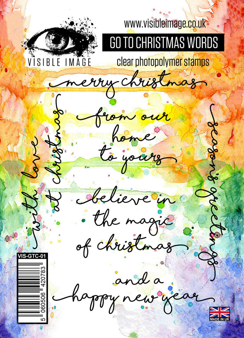 Visible Image - Go To Christmas Words - Clear Polymer Stamp Set