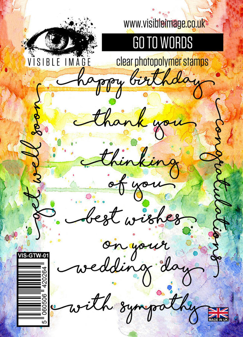 Visible Image - Go To Words - Clear Polymer Stamp Set