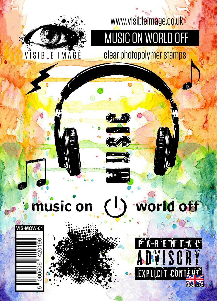 Visible Image - Music on World Off - Clear Polymer Stamp Set