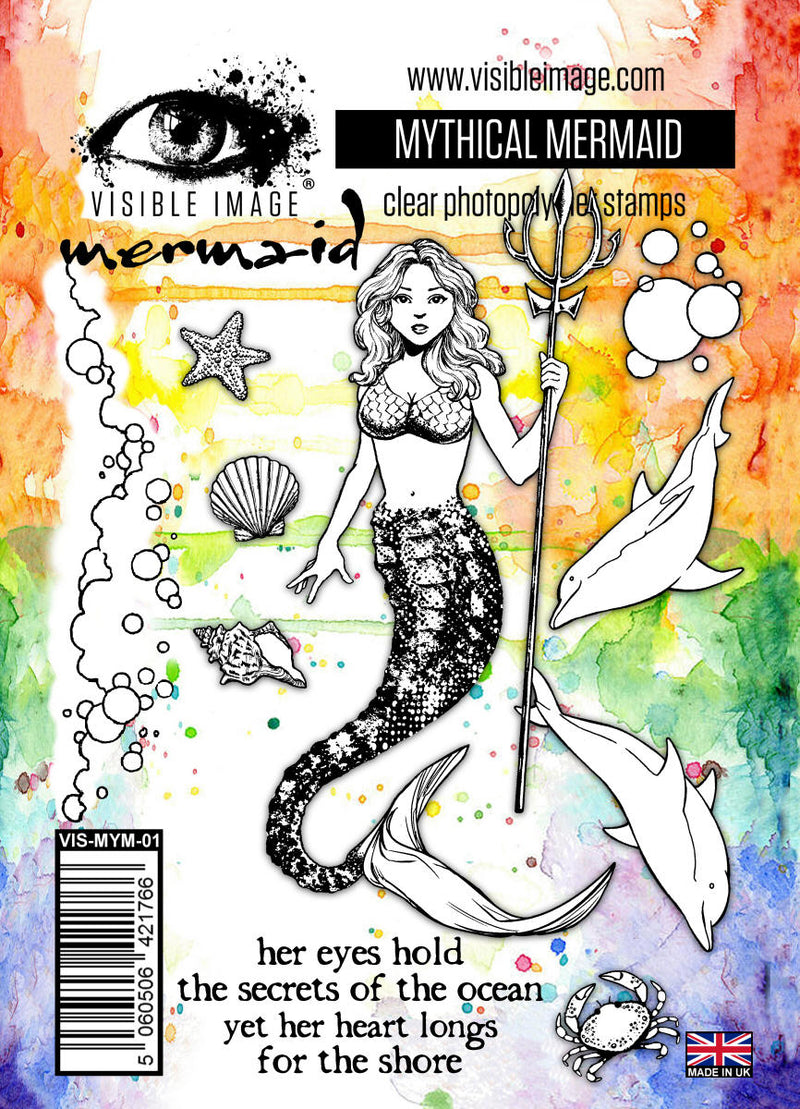 Visible Image - Mythical Mermaid - Clear Polymer Stamp Set