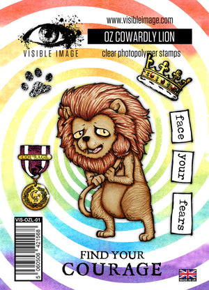 Visible Image - Oz - Cowardly Lion - Clear Polymer Stamp Set