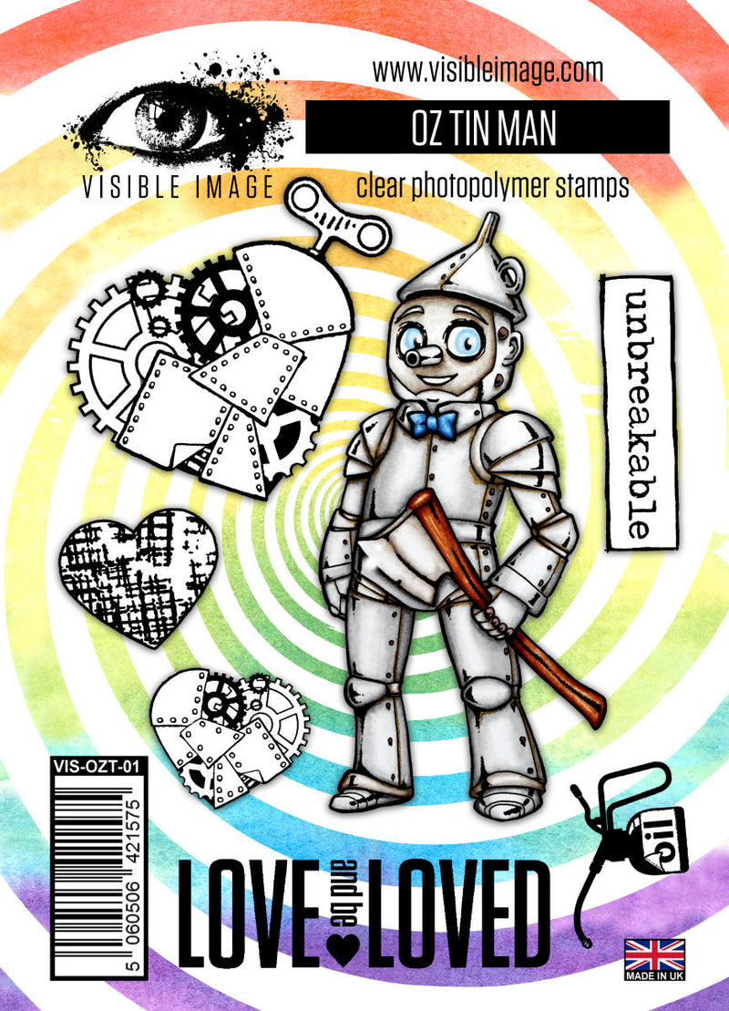 Visible Image - Oz - Tin Man - Clear Polymer Stamp Set