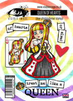 Visible Image - Alice in Wonderland - The Queen of Hearts - Clear Polymer Stamp Set - PREORDER