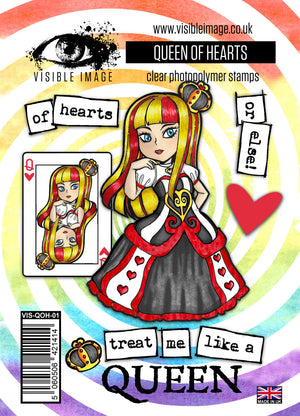 Visible Image - Alice in Wonderland - The Queen of Hearts - Clear Polymer Stamp Set